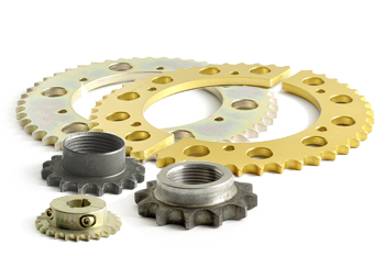 Chain wheels and -pinion