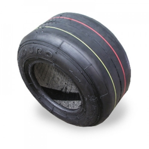 Tire 10*4.50-5 DURO HF242 small, color code red-yellow