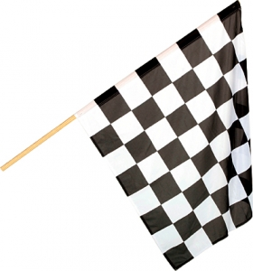 Flag black/white chequered80x80cm