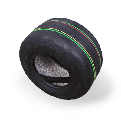 Tire 10*4.50-5 DURO HF242B (big, color code y-r-g)